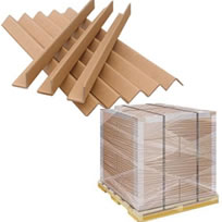 Angle boards or pallet corners for pallet stability - made from cardboard
